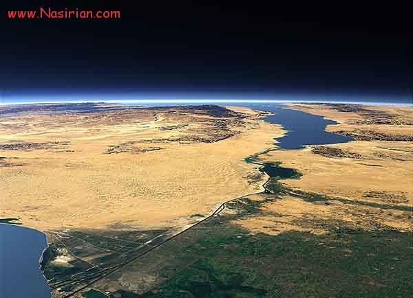 تصویر ماهواره ای از کانال سوئز