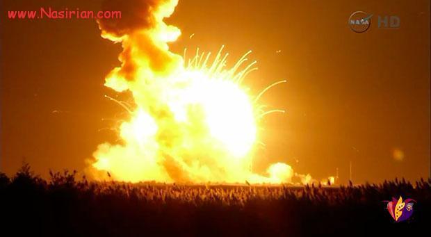 انفجار فضاپیمای ناسا پس از پرتاب  اکتبر ۲۰۱۴
