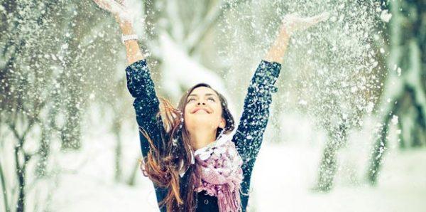 happy girl winter snow snowflakes self love - خودت می فهمی ؟
