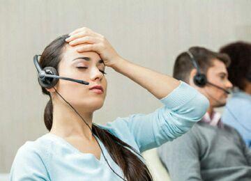tired customer service representative 805192747 - تماسهای تلفنی